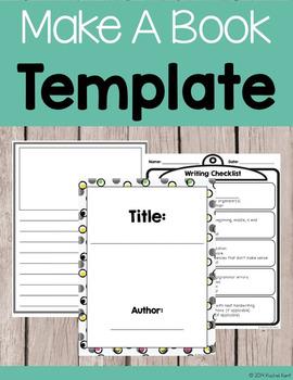 Make A Book Template Writing Pinterest Narrative Writing