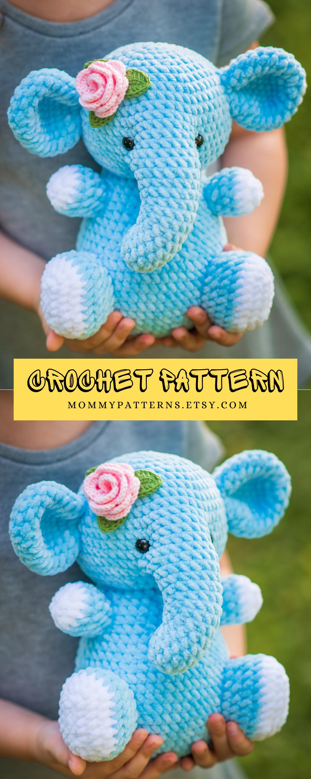 CROCHET PATTERN toy Elephant