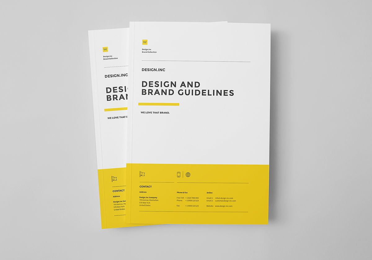 Brand Manual and Identity Template Corporate Design Brochure – Professional Manual Template