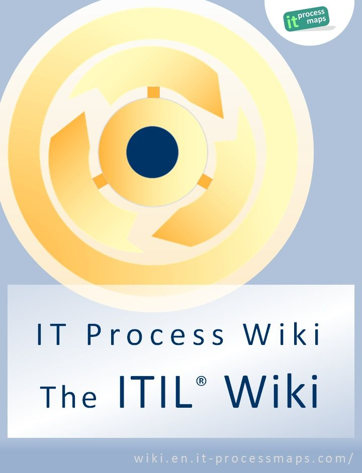 It Process Wiki The Itil Wiki Reference Material On Itil It