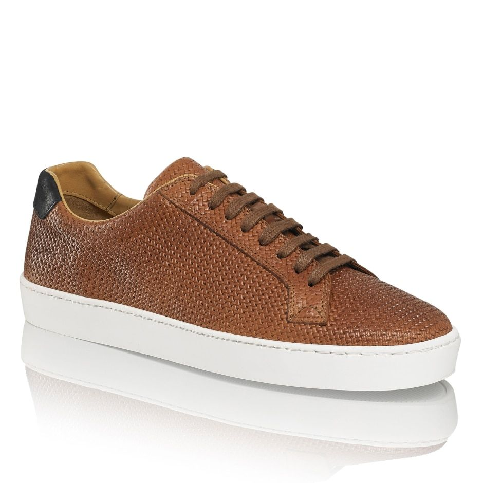 PARK RUN Low-Top Sneaker in Tan Leather