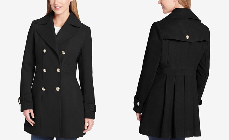 Tommy Hilfiger Trench Coat Womens Wool, Tommy Hilfiger Peacoat Women S