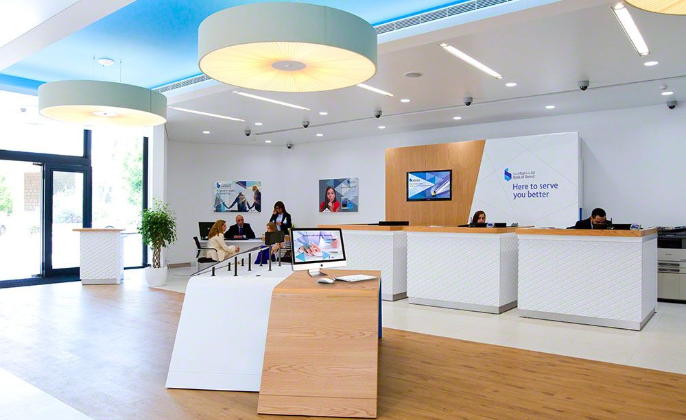 Modern bank teller desks google search bank bank interior