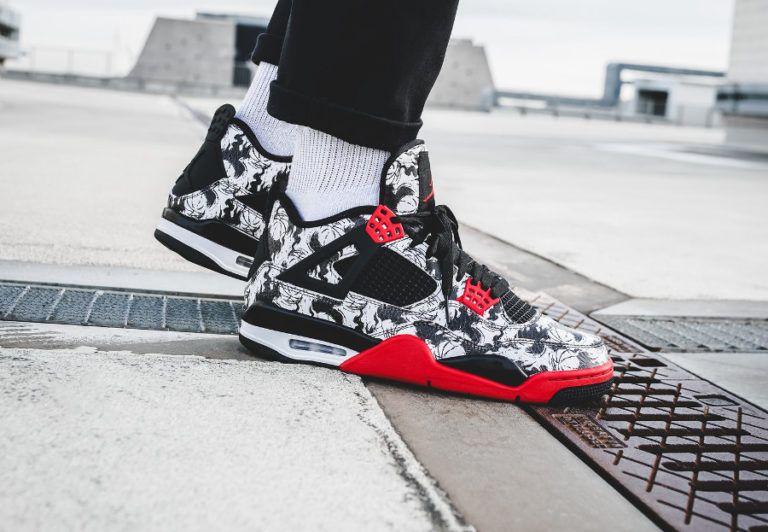 Nike Air Jordan 4 Retro Fire Red Tattoo Singles Day 2018 Nike Air Jordan Jordanie Sneakers Givenchy
