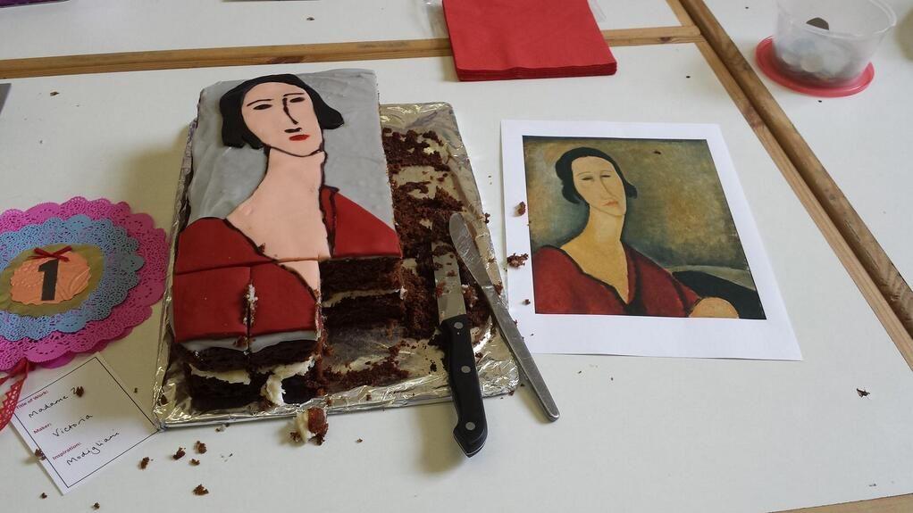 Cake version madame z by amedeo modigliani worthy