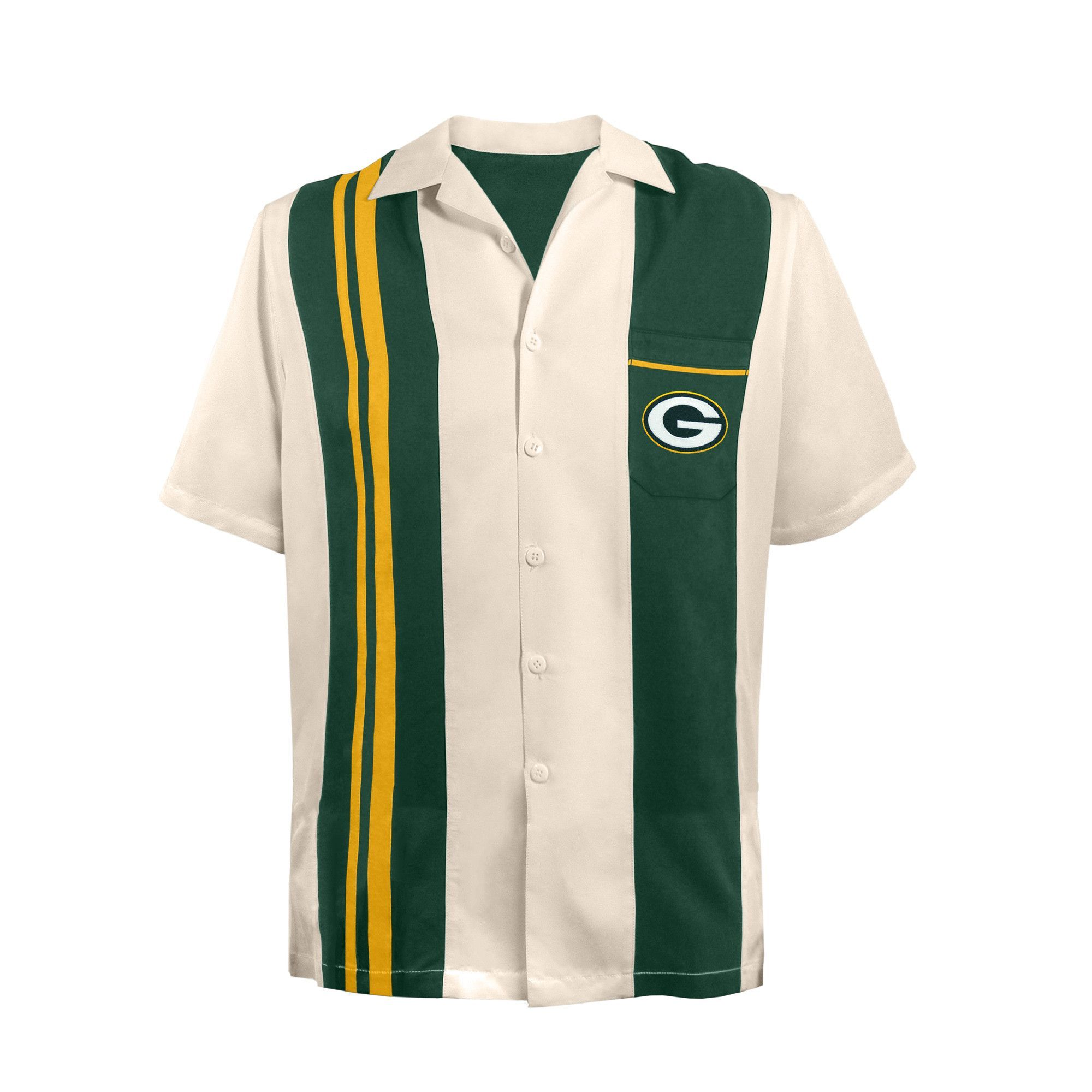 Officially licensed bowling shirt by Little Earth. These polyester shirts  have a loose fit and run larger than traditional shirts. Quality embroidery  with ...