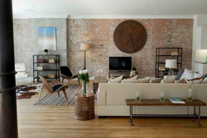 ziegelwand wohnzimmer – utopiafm, Wohnzimmer dekoo  Ziegelwände