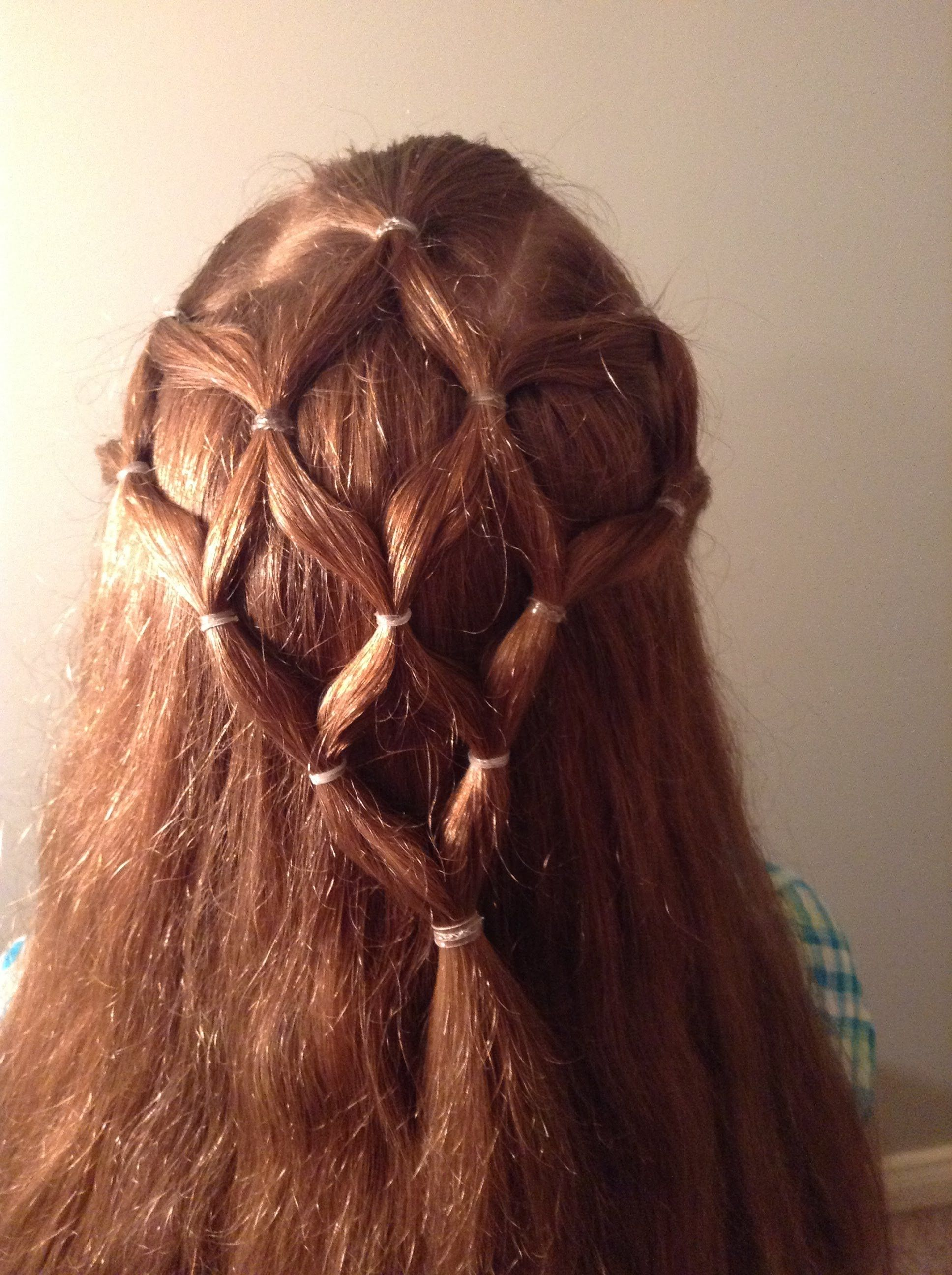 Girls Hair Style Simplified Fish Net Hair Hair Styles Hair Beauty