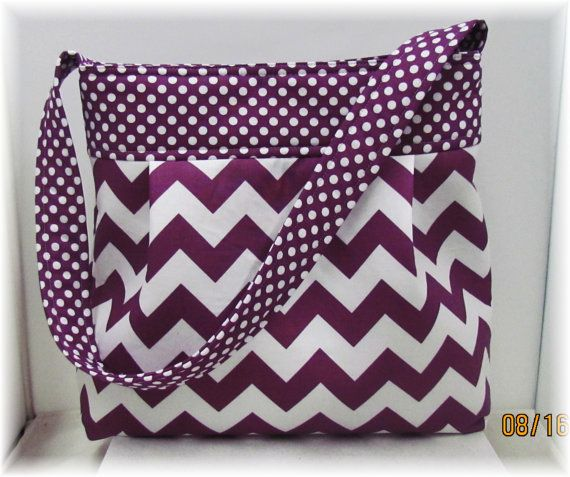 Tote/Purse Chevron Purple by simplynotesandtotes on Etsy