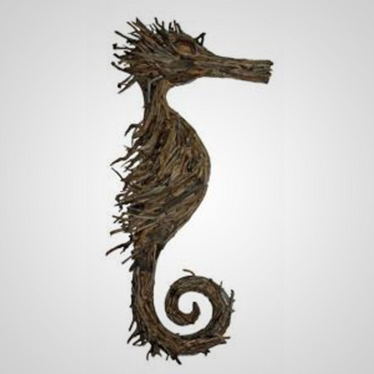 Nautical Driftwood Seahorse Ocean Day Driftwood Seahorse Driftwood Art
