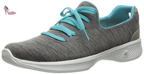 Skechers Go Walk 4, Baskets Basses Femme, Bleu (Teal), 35.5 EU