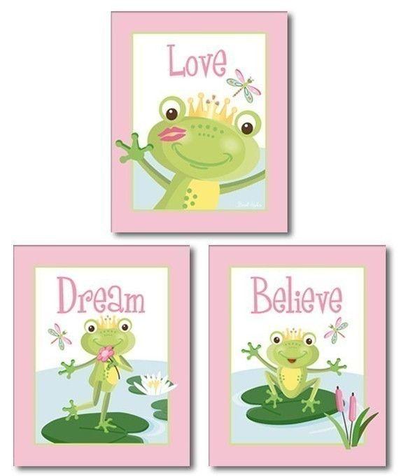 Frogs Nursery Prints Frogs Nursery Wall Art Frogs Nursery Wall