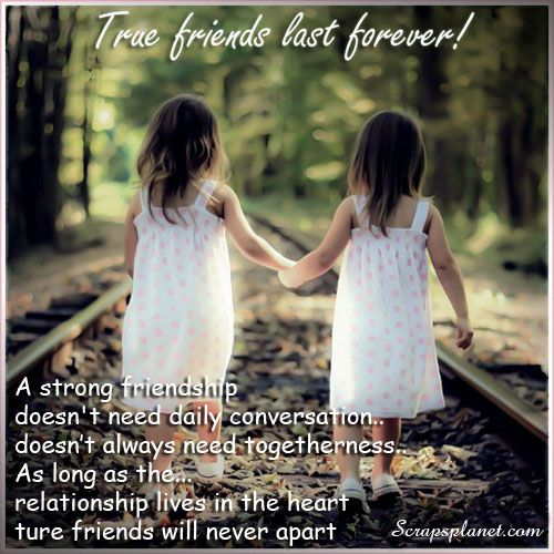 True Friends Last Forever A Strong Friendship Doesnt Need Daily
