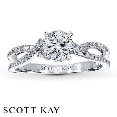 Scott Kay Ring Setting 18 ct tw Diamonds 14K White Gold Linda