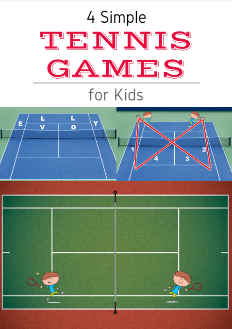 4 Simple Tennis Games For Kids Tennis Lessons For Kids Tennis Games Kids Tennis