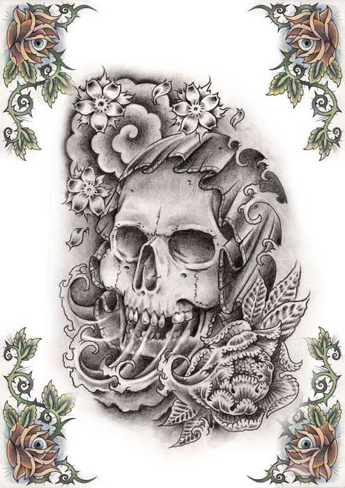 Http Www Freetattoodesigns Org Images Tattoo Gallery Skull Tattoo Design Jpg Skull Tattoo Bull Skull Tattoos Skeleton Tattoos