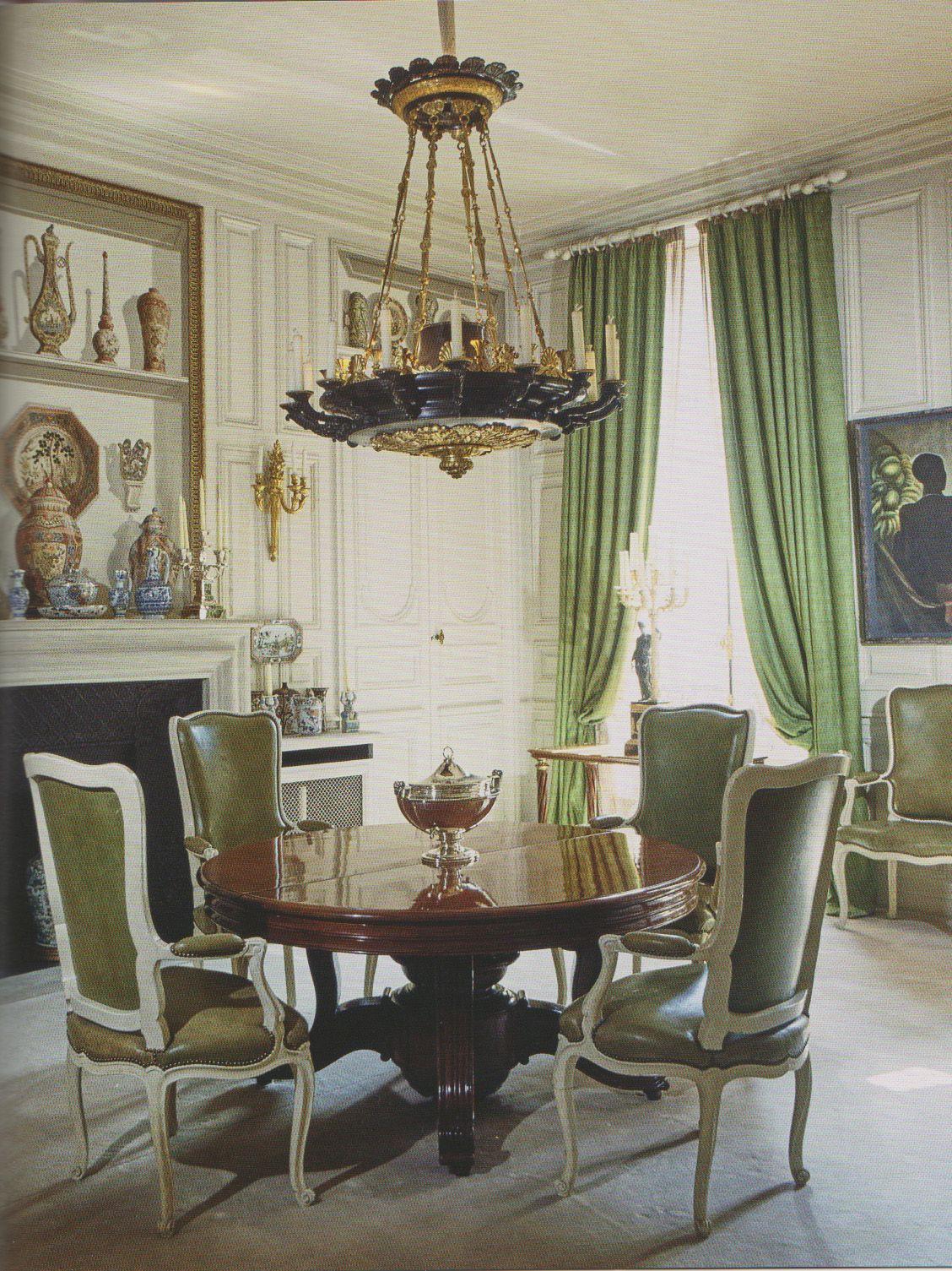 Dining Room Paris home of Helene Rochas 6a341d5cca