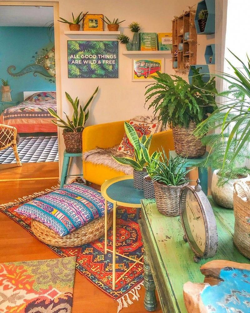 New stylish bohemian home decor and design ideas bohemianinterior also rh pinterest