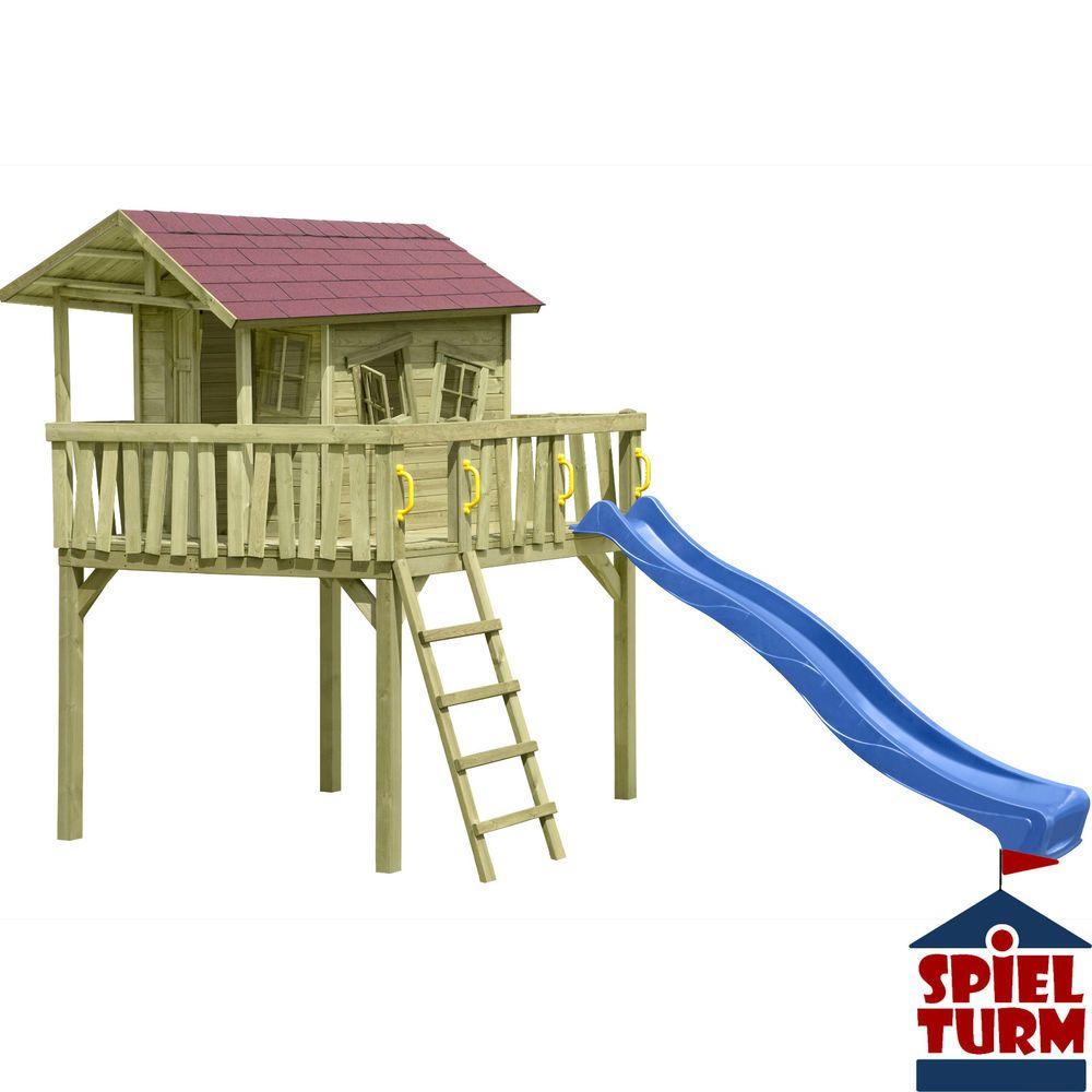 Details zu HOQ Spielhaus CRAZY Maxi aus Holz Stelzenhaus Spielturm ...