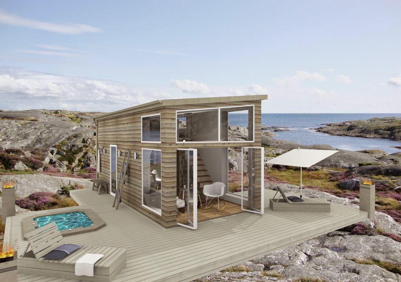 attefallshus med loft modern design byggsats Sök på