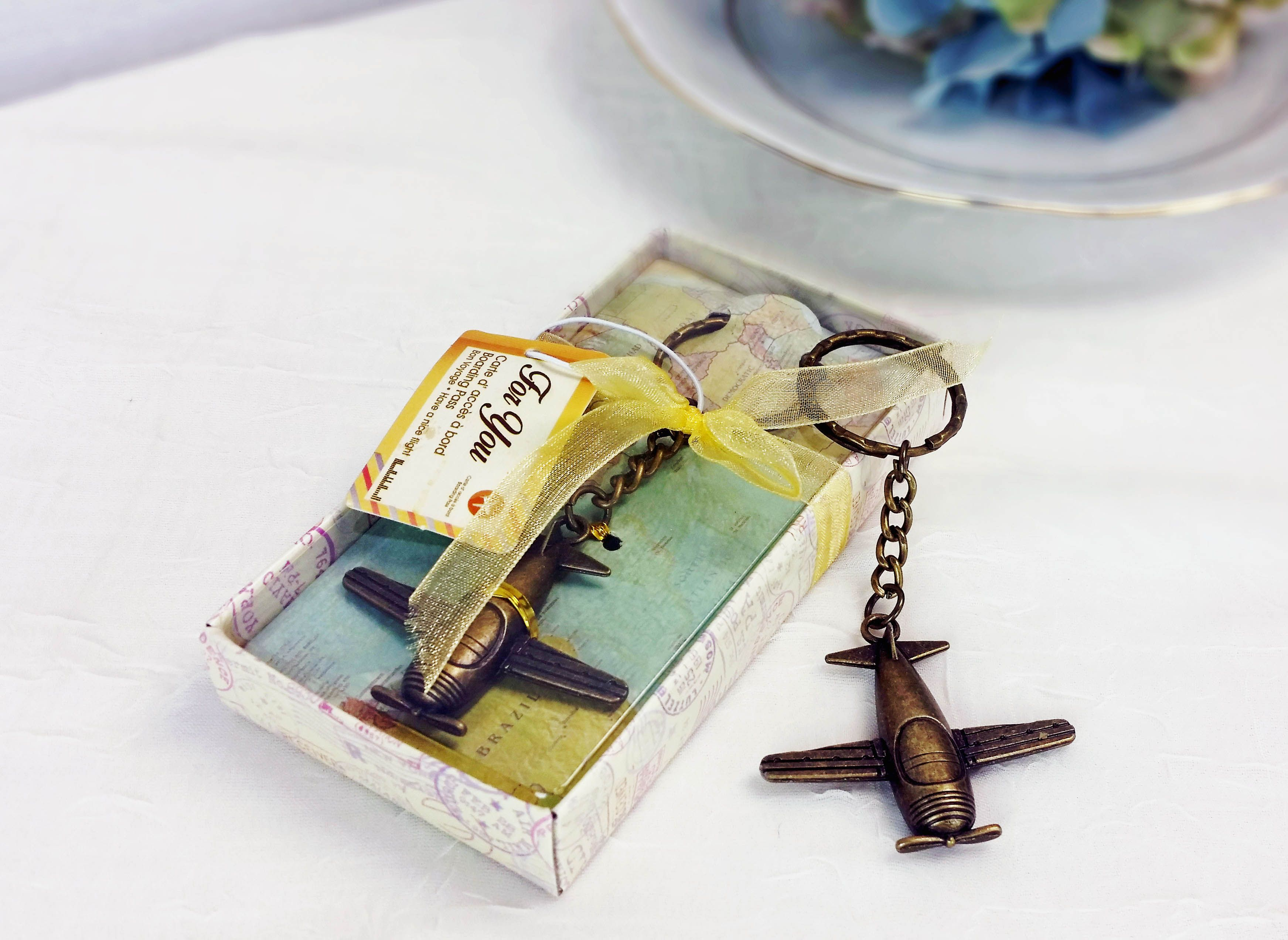 Great keychains for a travel themed party or vintage birthday or ...