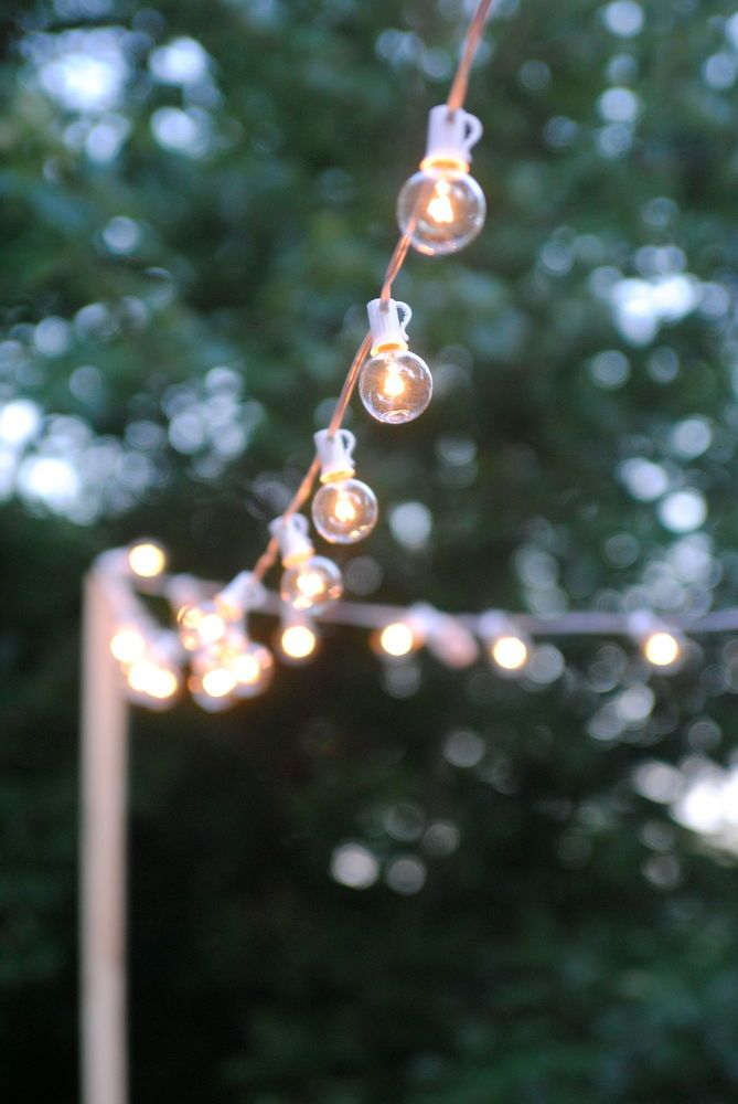 How To Hang String Lights In Backyard Without Trees Classy How To Hang Outdoor String Lights For A Magical Glow  Gardens Design Ideas