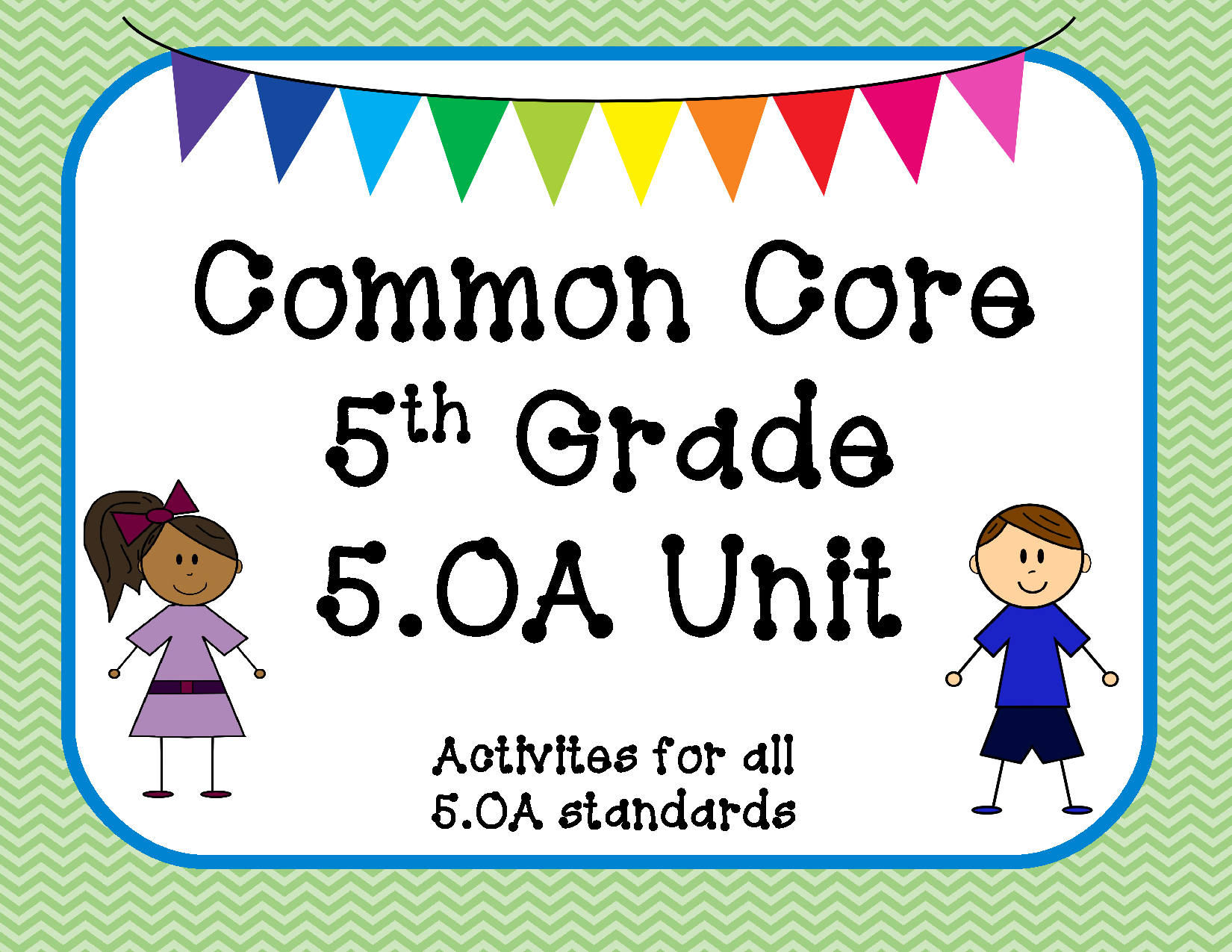 5 Oa Ccss Centers For Algebraic Thinking 5th Grade Bundle