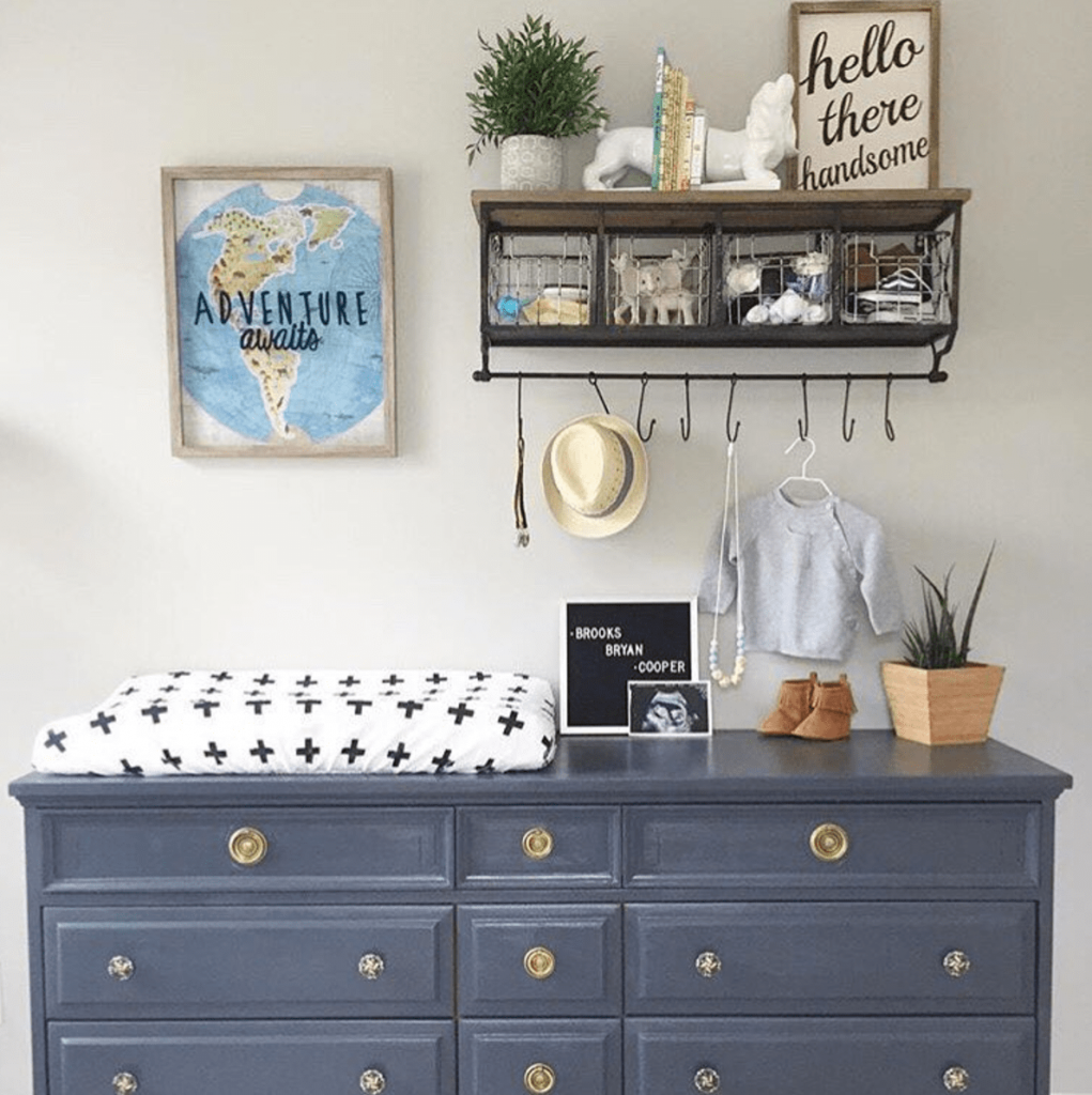 Update A Dresser That You Already Have And Use It As Changing Table