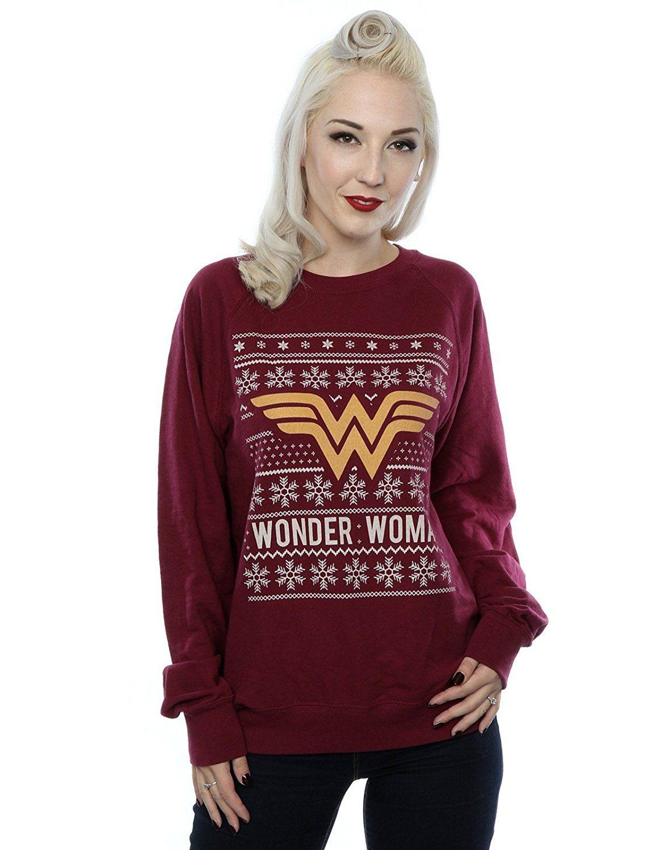 DC Comics Women's Wonder Woman Christmas Sweatshirt