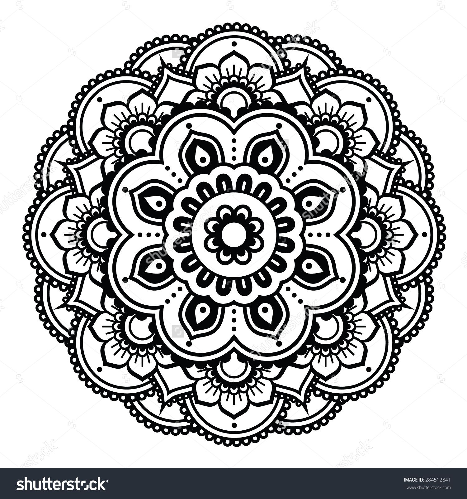 circle flower henna makedescom