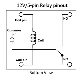 ordinary 12v 5 pin relay pinout - google search | device, Wiring diagram