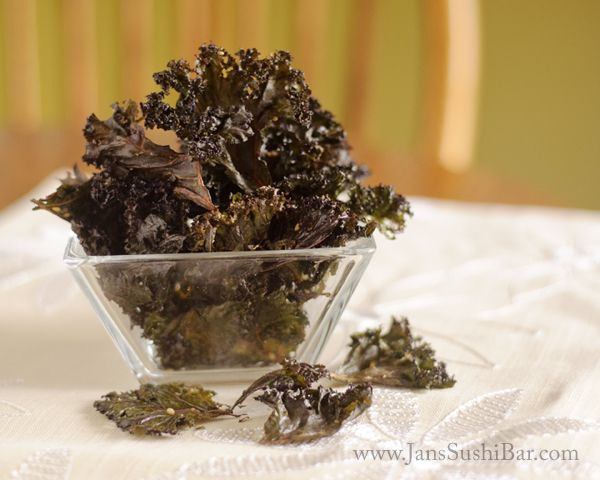 Kale Chips... been meaning to make these so I can see what the fuss is all about.