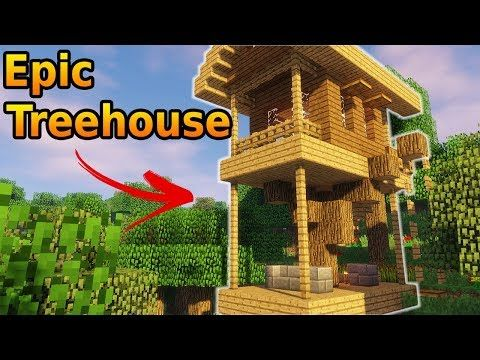 Minecraft How To Build A Treehouse Minecraft Treehouses Tree
