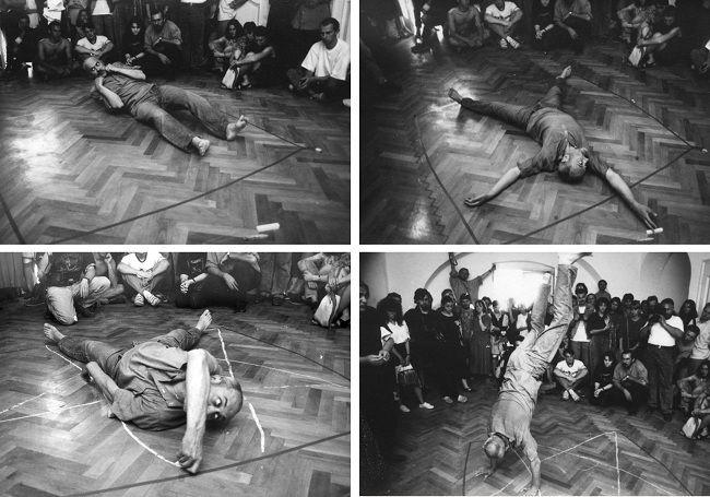 Rudolf Bone - The Pentagram, 1993, The Performance Festival Zone - Eastern Europe,Timisoara