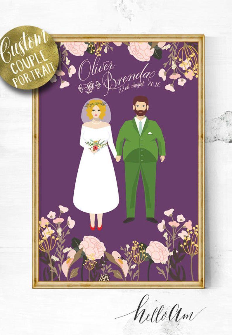 Unique Wedding Gift Wedding Gift Ideas Gift For Her Etsy In 2020 Unique Wedding Gifts Wedding Illustration Wedding Gifts