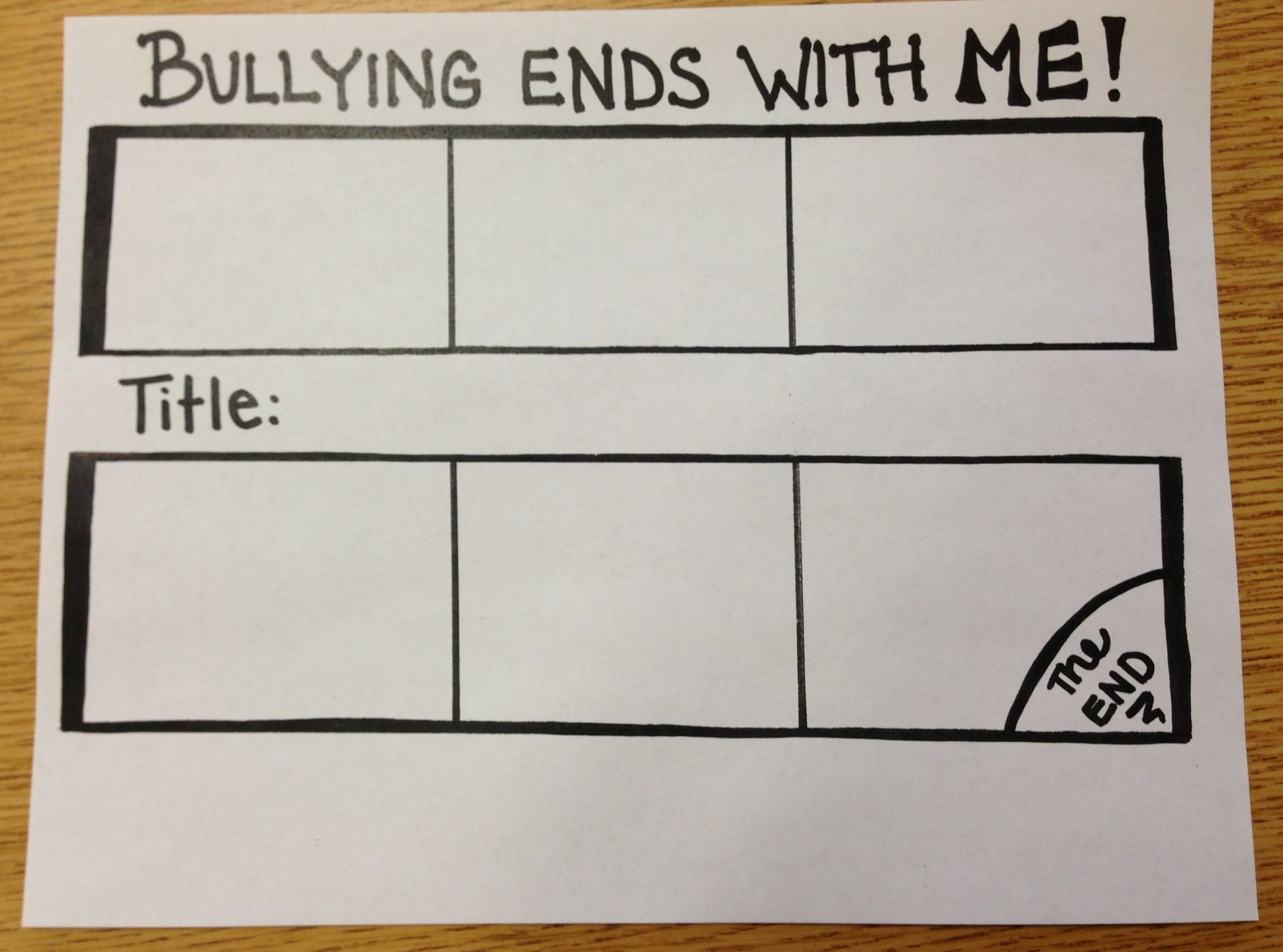 Handout For Bullying In Class Guidance Lesson Each