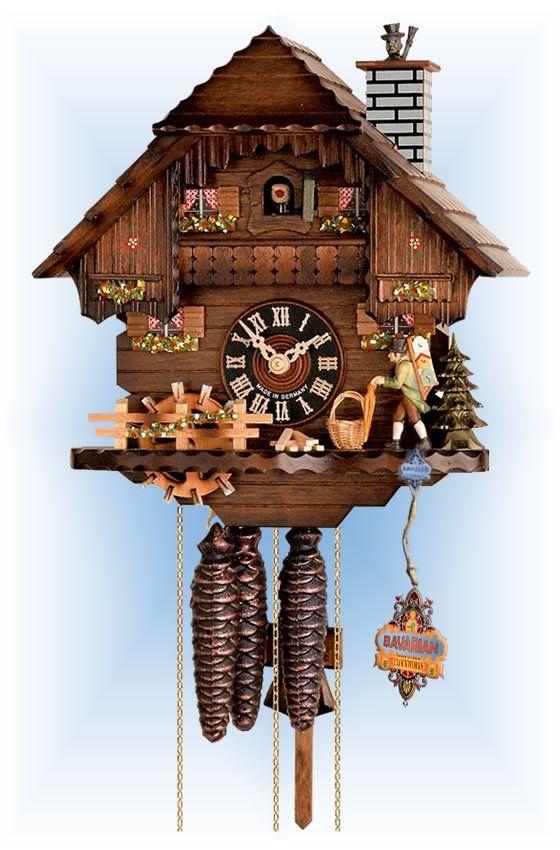 Hones Peddlers Way cuckoo clock 12'' - Bavarian Clockworks