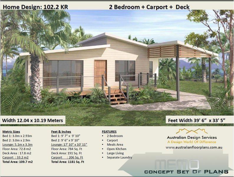 Jun 6 2020 2 Bedroom Carport House Plan Living Area 1181 Sq Feet Or Etsy Traumhausplanemodern In 2020 House Plans For Sale Small Cottage House Plans House Plans