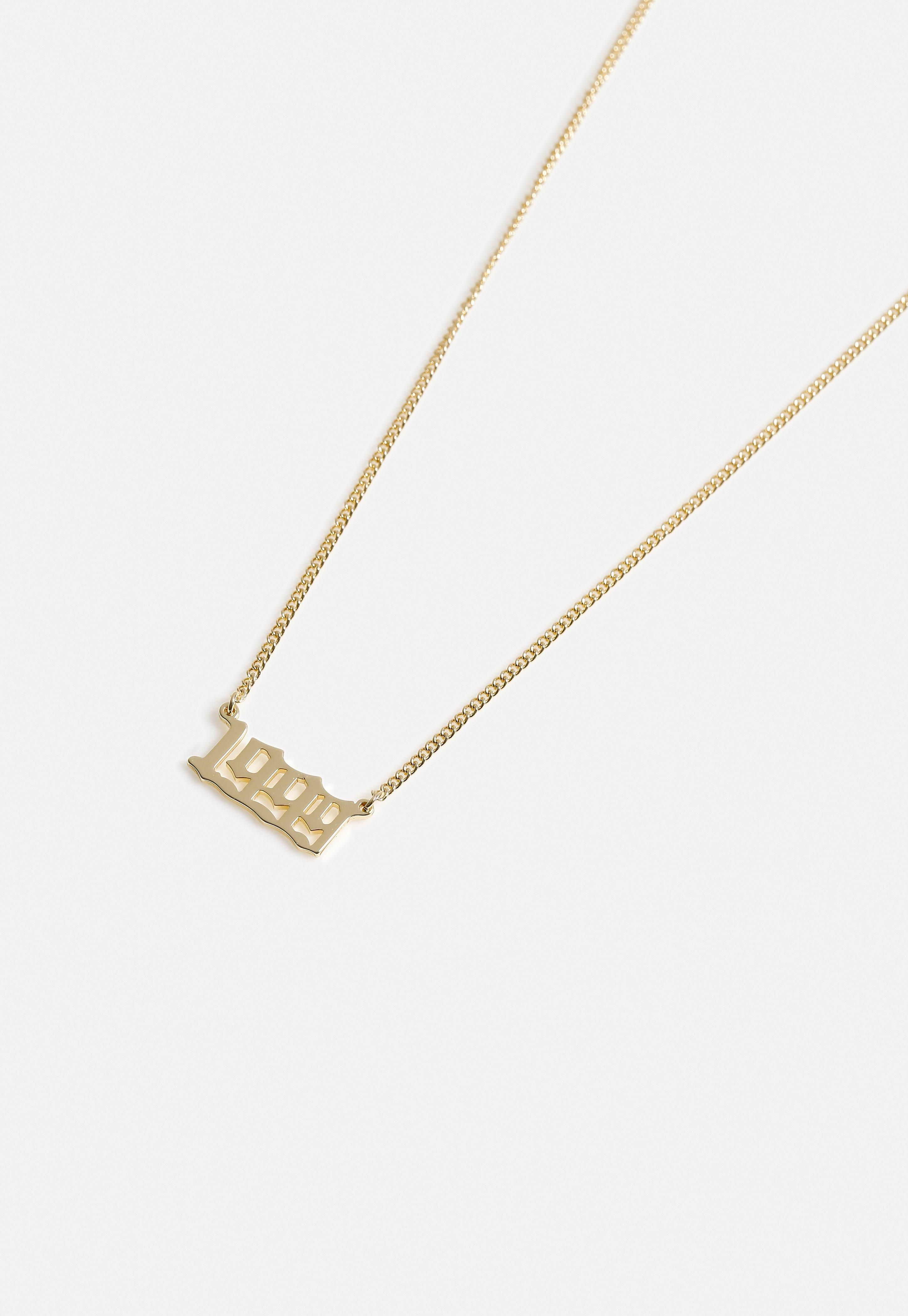 Gold Look Birth Year 1999 Necklace Sponsored Birth Sponsored Gold Year In 2020 Fashion Costume Jewelry Women Jewelry Necklace