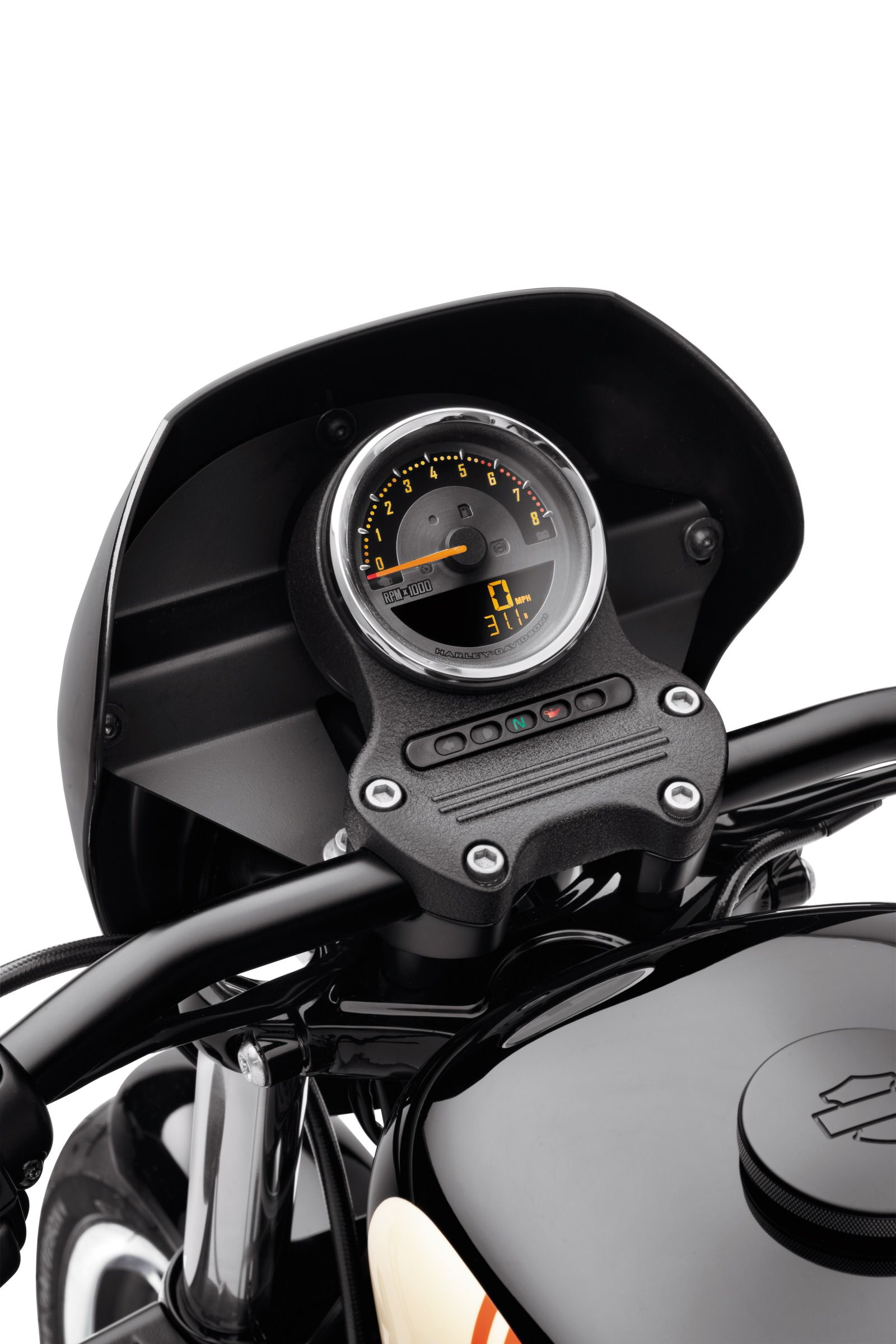 fuel level and gear position without adding additional handlebar mounted gauges harley davidson combination digital speedometer analog tachometer [ 1600 x 2400 Pixel ]