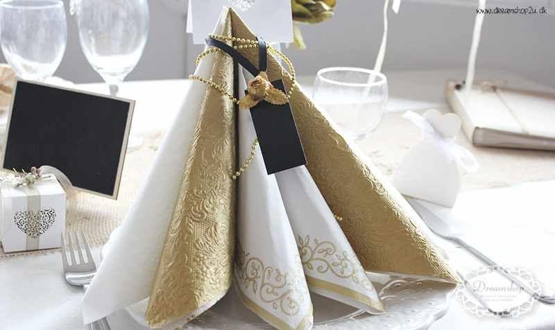 borddækning servietter