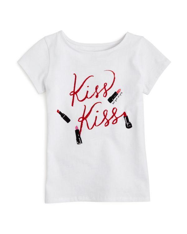 kate spade new york Girls' Kiss Kiss Tee - Sizes 2-6