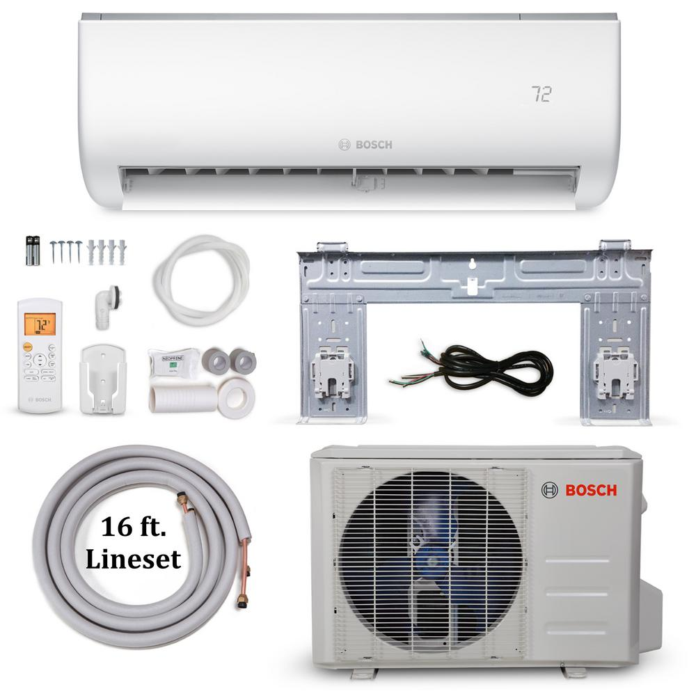 Bosch Climate 5000 Energy Star 12 000 Btu 1 Ton Ductless Mini Split Air Conditioner And Heat Pump 115 Volt 60 Hz 8733948000 The Home Depot Air Conditioner With Heater Ductless Mini Split Ductless