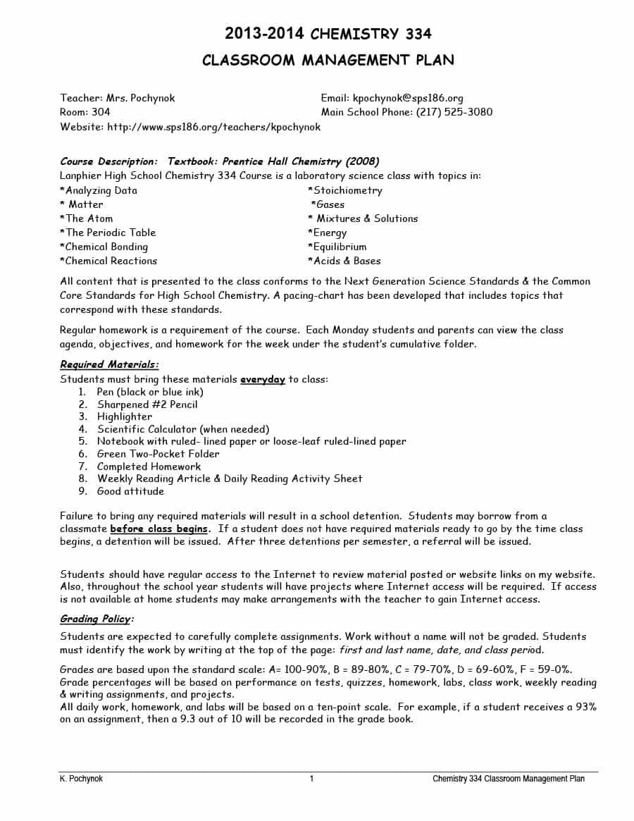 Classroom Management Plan In Some Instances A Plan Will Sound Like It Is Going To Work Classroom Management Plan Classroom Management Printable Lesson Plans
