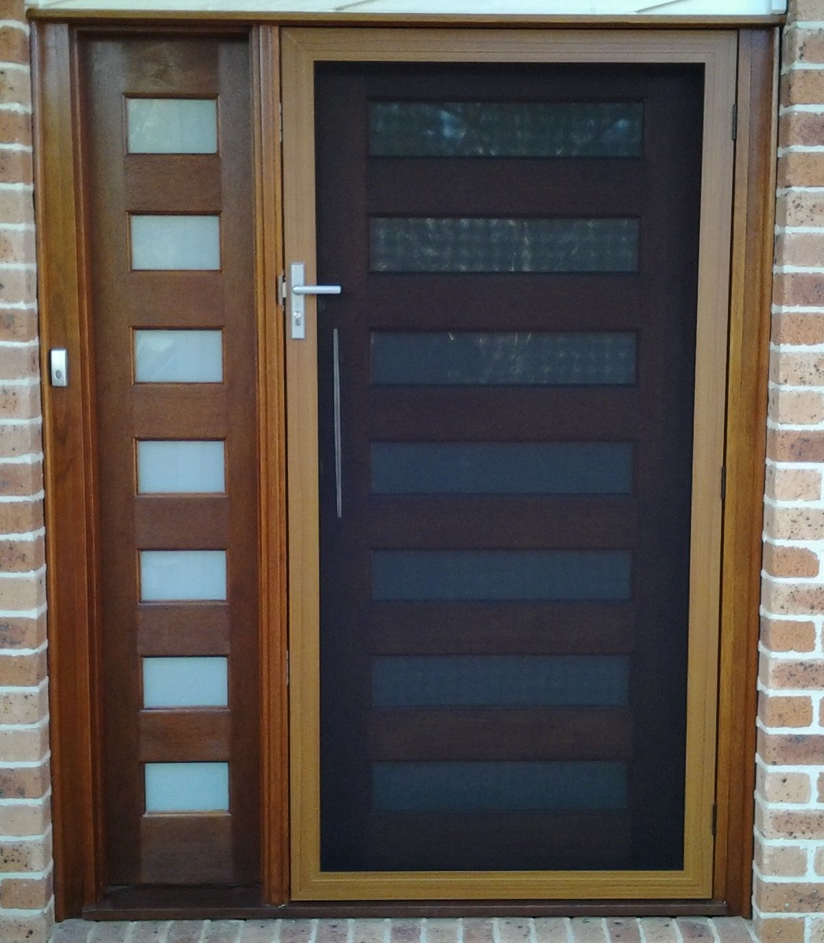 Entry Doors With Screens : Secureview hinged security screen door stainless steel