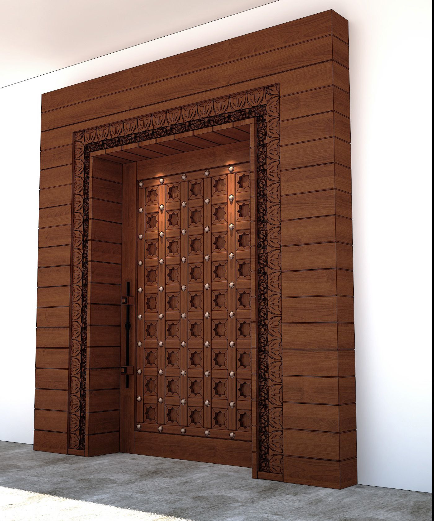 impactful wooden entrance door design