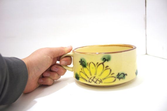 1970's Vintage Retro Flowered  Mugs by TheForgotten on Etsy, $14.00