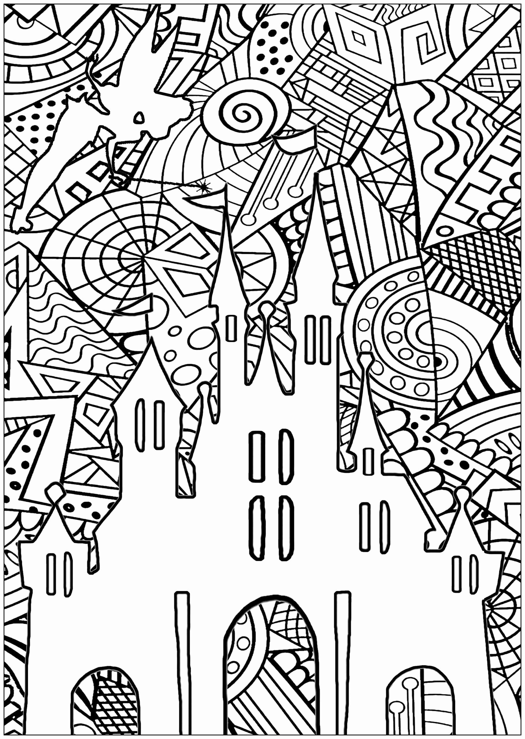 Printable Coloring Pages For Adults Disney Portraits