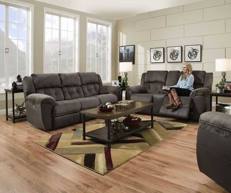 Swell Simmons Upholstery Beale Grey 2 Piece Power Double Motion Ibusinesslaw Wood Chair Design Ideas Ibusinesslaworg