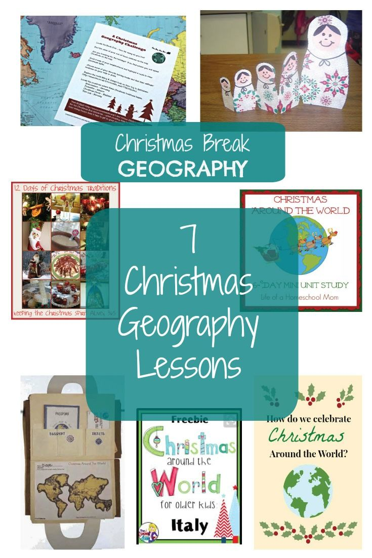 Geography Christmas Break Lessons | Geography, Homeschool and Unit ...